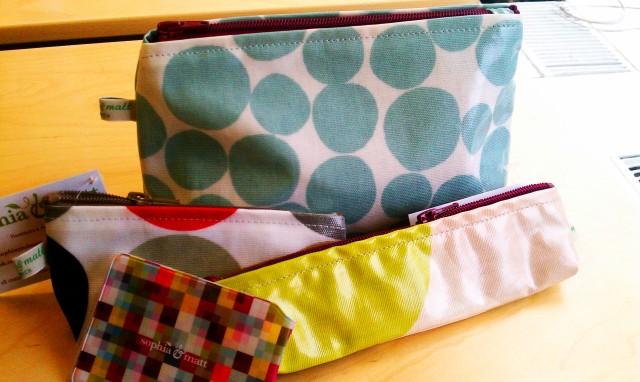 From Sophia & Matt in Greenwich, London: medium purse, small purse, pencil case and card holderes